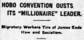 Headline of the Ballston Spa NY Daily Journal, February 8, 1913.